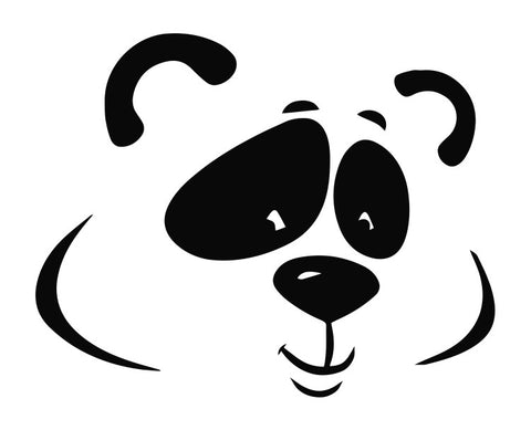 Panda Bear Cartoon Head (a) Die Cut Vinyl Decal Sticker