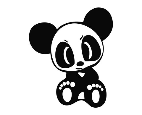 Panda Bear Cartoon (b) Die Cut Vinyl Decal Sticker