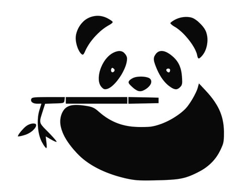 Panda Bear Eating Bamboo (a) Die Cut Vinyl Decal Sticker