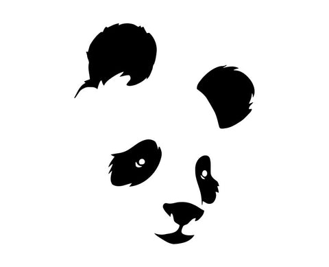 Panda Bear Face Die Cut Vinyl Decal Sticker