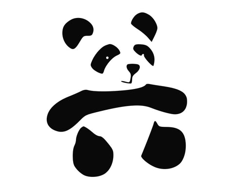 Panda Bear (c) Die Cut Vinyl Decal Sticker