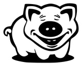 Pig Laughing Die Cut Vinyl Decal Sticker - Decals City