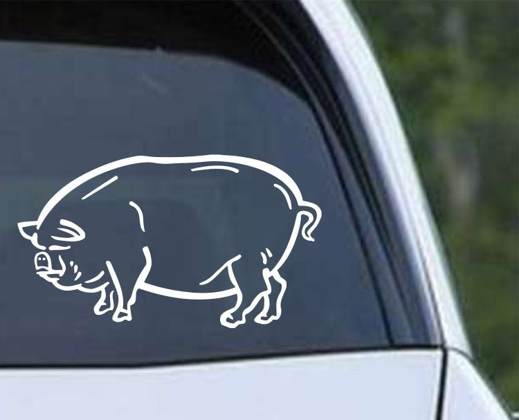 Pig (ver a) Die Cut Vinyl Decal Sticker - Decals City