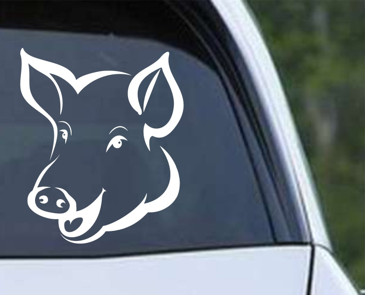 Pig Head (ver e) Die Cut Vinyl Decal Sticker - Decals City