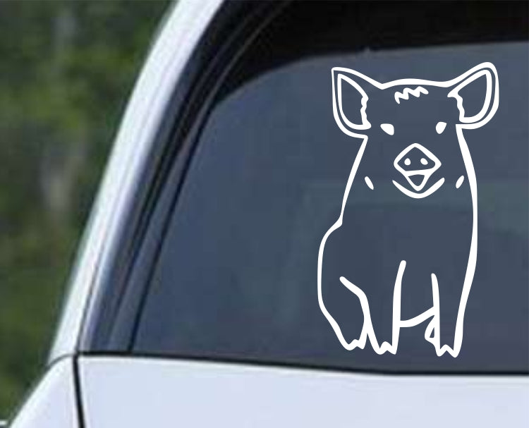 Pig (ver d) Die Cut Vinyl Decal Sticker - Decals City