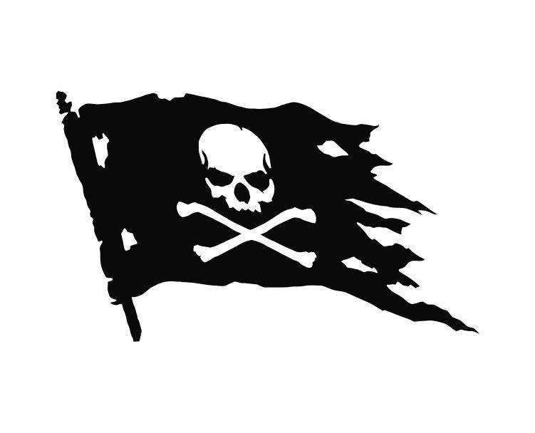Pirate Flag Die Cut Vinyl Decal Sticker - Decals City