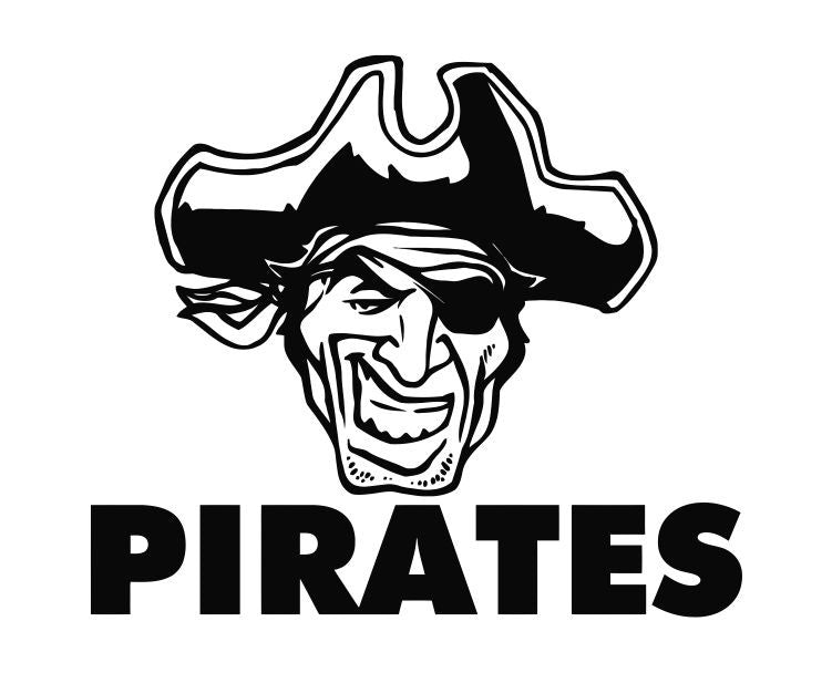 Pirate Head (ver j) Die Cut Vinyl Decal Sticker - Decals City