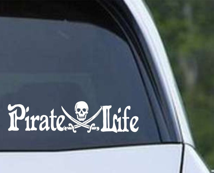 Pirate Life Die Cut Vinyl Decal Sticker - Decals City