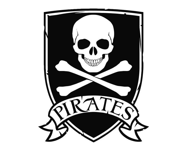 Pirate Logo Die Cut Vinyl Decal Sticker - Decals City
