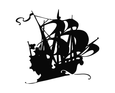 Pirate Ship (ver a) Die Cut Vinyl Decal Sticker - Decals City