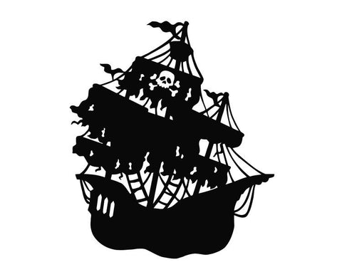 Pirate Ship (ver b) Die Cut Vinyl Decal Sticker - Decals City