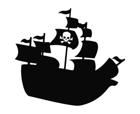 Pirate Ship (ver c) Die Cut Vinyl Decal Sticker - Decals City