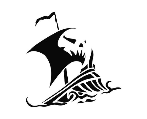 Pirate Ship (ver d) Die Cut Vinyl Decal Sticker - Decals City