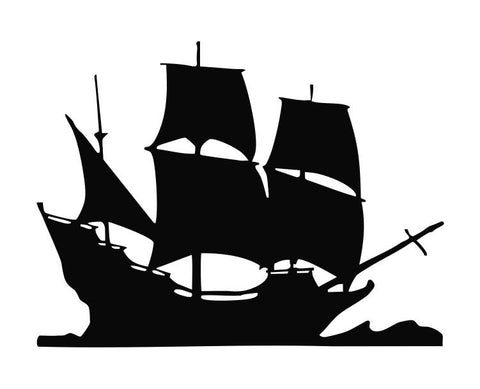 Pirate Ship (ver e) Die Cut Vinyl Decal Sticker - Decals City