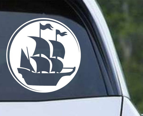Pirate Ship (ver f) Die Cut Vinyl Decal Sticker - Decals City