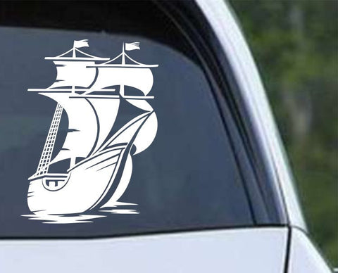 Pirate Ship (ver h) Die Cut Vinyl Decal Sticker - Decals City