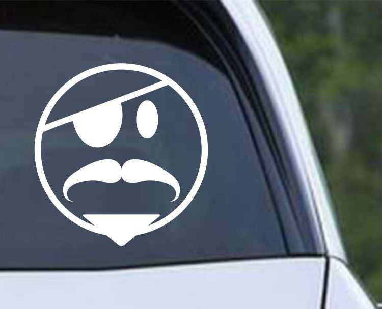 Pirate Smiley Face Die Cut Vinyl Decal Sticker - Decals City