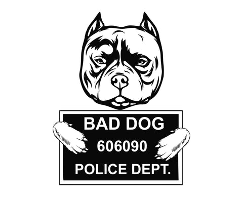 Pit Bull Bad Dog v5 Die Cut Vinyl Decal Sticker - Decals City