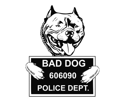 Pit Bull Bad Dog v6 Die Cut Vinyl Decal Sticker - Decals City