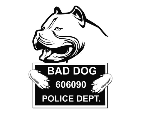Pit Bull Bad Dog v8 Die Cut Vinyl Decal Sticker - Decals City