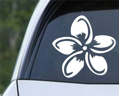 Plumeria Flower (b) Die Cut Vinyl Decal Sticker - Decals City
