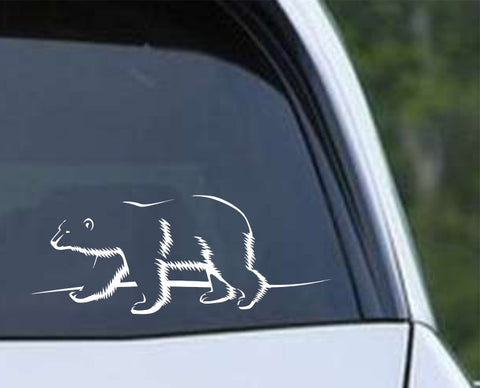 Polar Bear Outline Die Cut Vinyl Decal Sticker