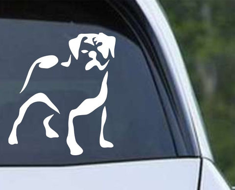 Pug Outline Die Cut Vinyl Decal Sticker - Decals City