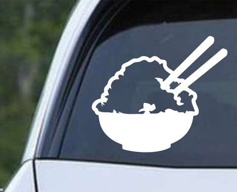 Rice Bowl Chop Sticks Die Cut Vinyl Decal Sticker
