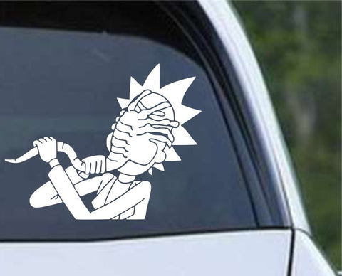 Rick and Morty - Alien Facehugger Is No Match Die Cut Vinyl Decal Sticker