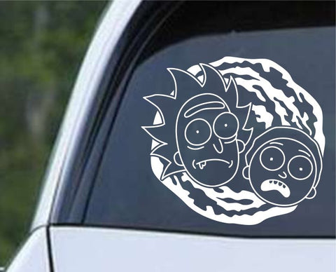 Rick and Morty - Heads Swirl Die Cut Vinyl Decal Sticker