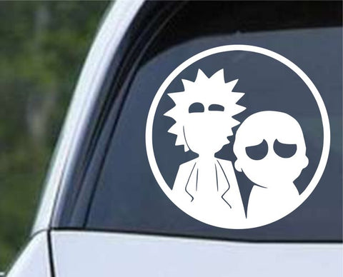 Rick and Morty - Circle Silhouette Die Cut Vinyl Decal Sticker - Decals City