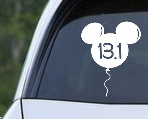 Run Running Disney Balloon 13.1 Marathon Die Cut Vinyl Decal Sticker - Decals City