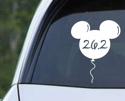 Run Running Disney Balloon 26.2 Marathon Die Cut Vinyl Decal Sticker - Decals City