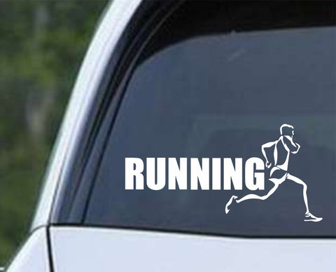 Running Runner Marathon Run Triathlon v2 Die Cut Vinyl Decal Sticker - Decals City