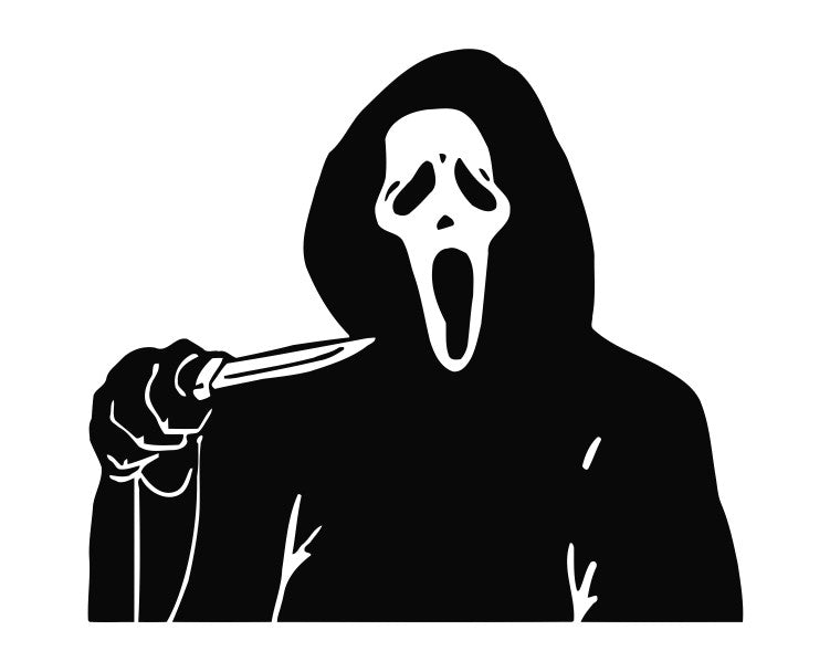 Scream (b) Funny Die Cut Vinyl Decal Sticker - Decals City