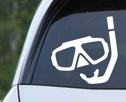 Scuba - Spearfishing Diving Wetsuit Mask Die Cut Vinyl Decal Sticker - Decals City