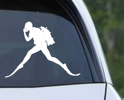 Scuba Diving Silhouette v5 Die Cut Vinyl Decal Sticker - Decals City