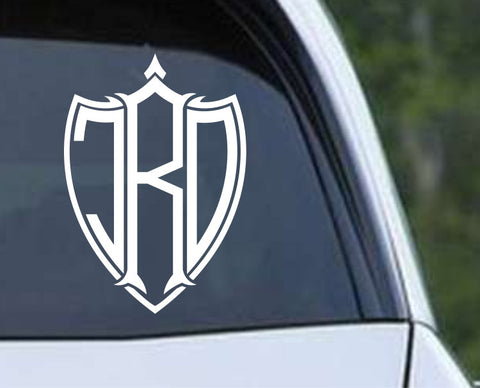 Shield Monogram with Frame Die Cut Vinyl Decal Sticker - Decals City