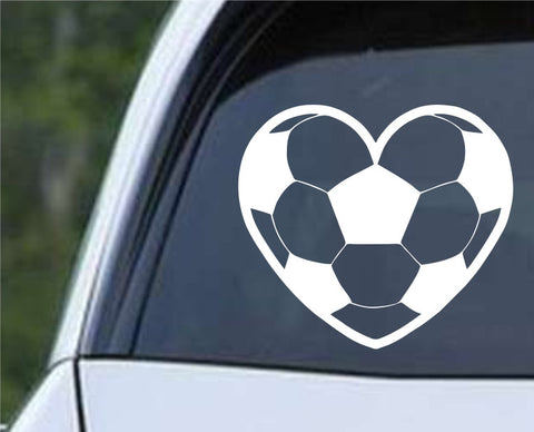 Soccer Ball Heart (b) Die Cut Vinyl Decal Sticker