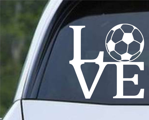 Soccer Ball Love Die Cut Vinyl Decal Sticker