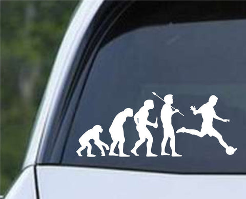 Soccer Evolution (a) Die Cut Vinyl Decal Sticker