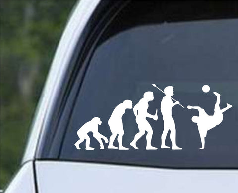 Soccer Evolution (b) Die Cut Vinyl Decal Sticker