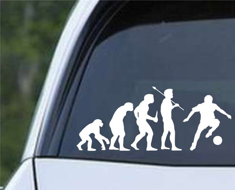 Soccer Evolution (c) Die Cut Vinyl Decal Sticker