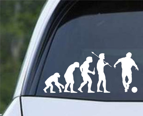 Soccer Evolution (d) Die Cut Vinyl Decal Sticker