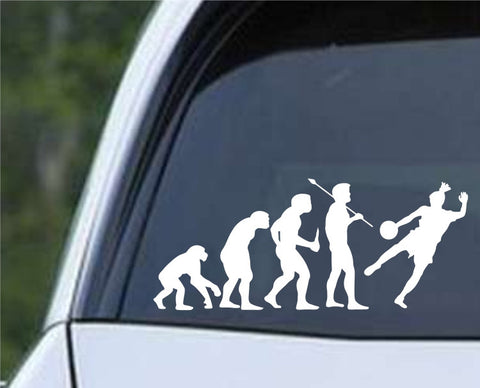 Soccer Evolution (e) Die Cut Vinyl Decal Sticker