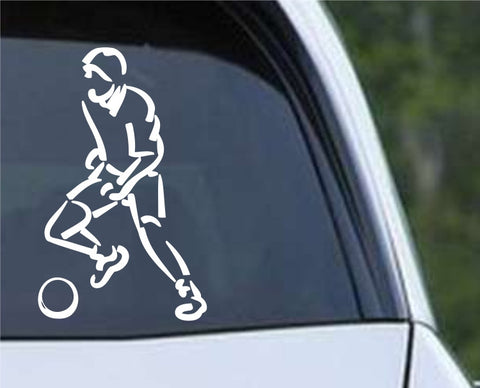 Soccer Player (b) Die Cut Vinyl Decal Sticker
