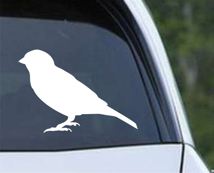 Sparrow Silhouette Die Cut Vinyl Decal Sticker - Decals City