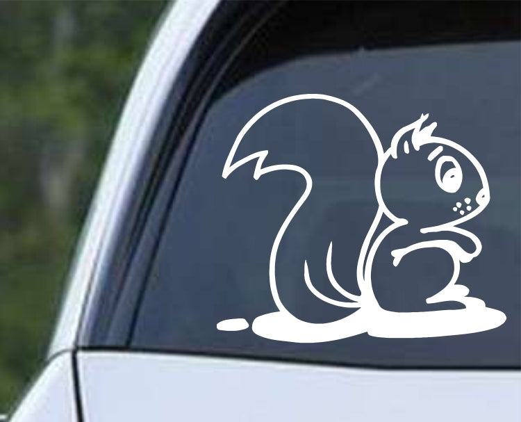 Squirrel Cartoon (ver c) Die Cut Vinyl Decal Sticker - Decals City