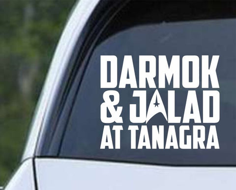 Star Trek - Darmok and Jalad At Tanagra Die Cut Vinyl Decal Sticker - Decals City
