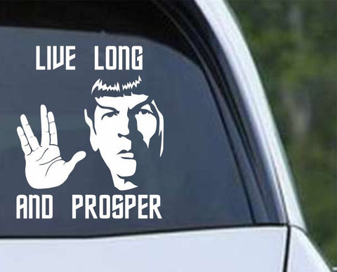 Star Trek - Spock Live Long and Prosper Die Cut Vinyl Decal Sticker - Decals City